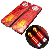 1 Pair 12VDC 19 LED Trailer Tail Braking Turning Reversing Lights