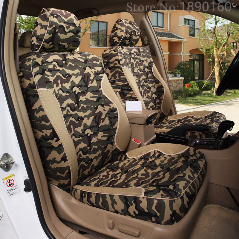 High Quality Special Camouflage Car Seat Covers For KIA K2K3K5 Kia Cerato Sportage Optima Maxima Carnival Accessories In Automobiles From