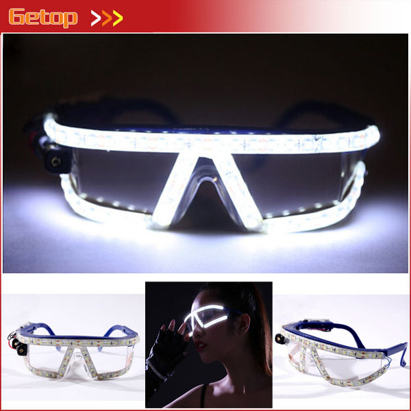 все цены на New LED Glasses 4 colors Flashing Glasses Hot Dance Stage Sex Woman Glasses scream costume DJ LED glasses for Party