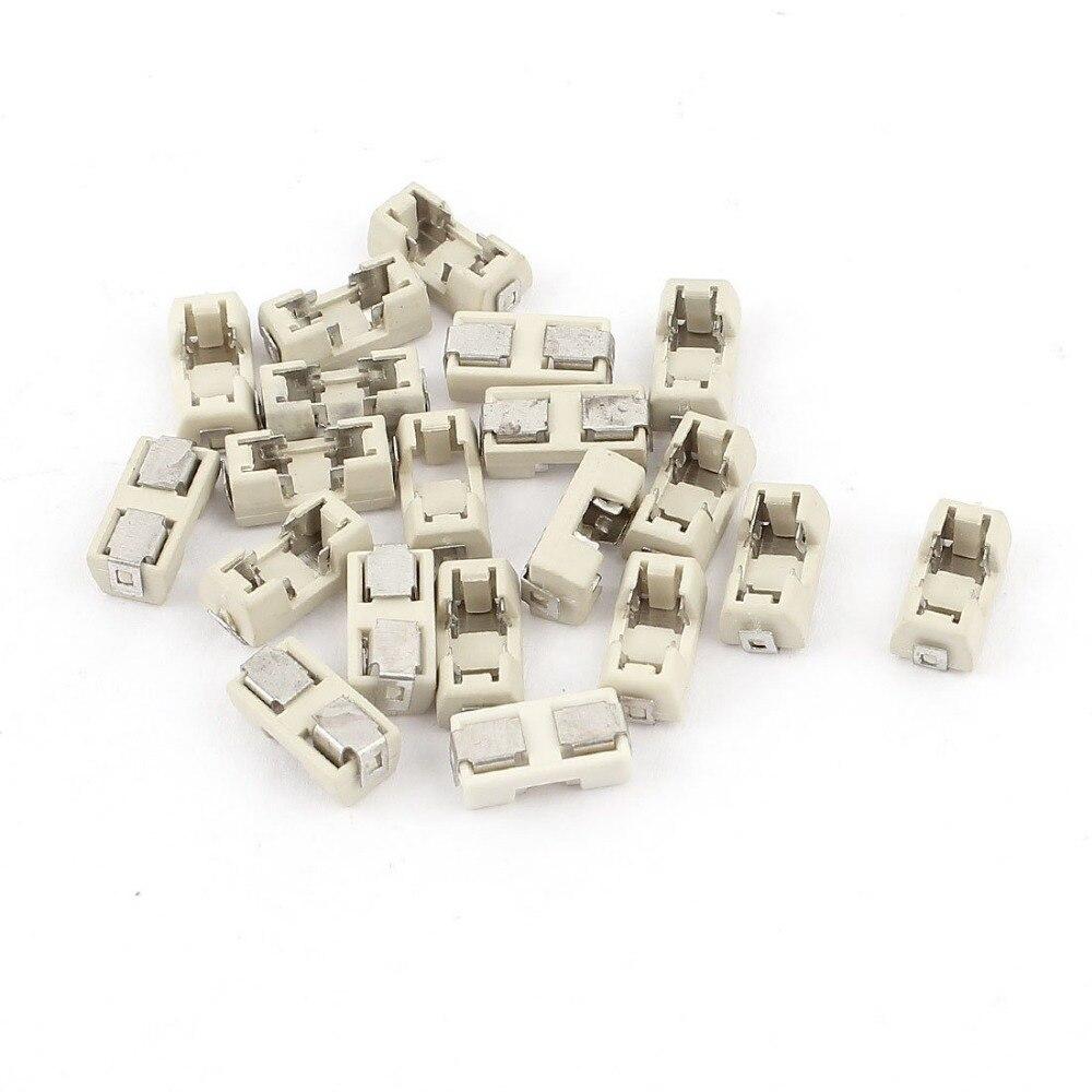 20PCS/LOT 1808 SMD fuse holder Socket fuse box base transposon 6.1x2.69mm temperature Plastic Shell portafusibili [sa]new original alarm fuse base fuse holder ds 401a
