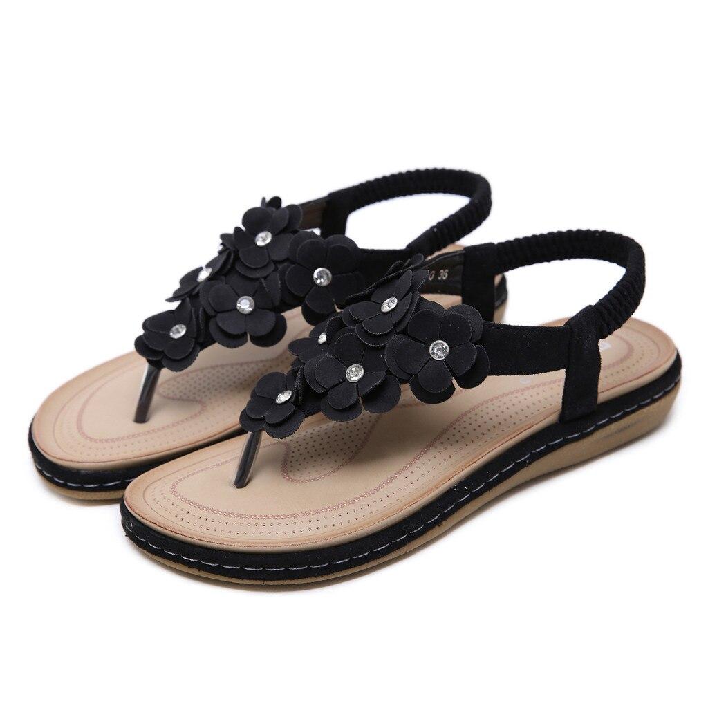Billiger Preis Neue Ankunft Frauen Sandles Damen Böhmischen Blume Kristall Mode Schnalle Strand Römischen Sandalen Schuhe Zapatos De Mujer # Daa ZuverläSsige Leistung