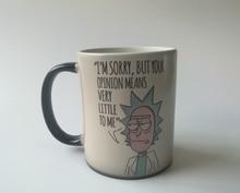 Rick und Morty becher Rick Sanchez tasse kaffee tassen Tee tasse wärme offenbaren becher kalten hot sensitive tassen wärme ändernde farbe tassen