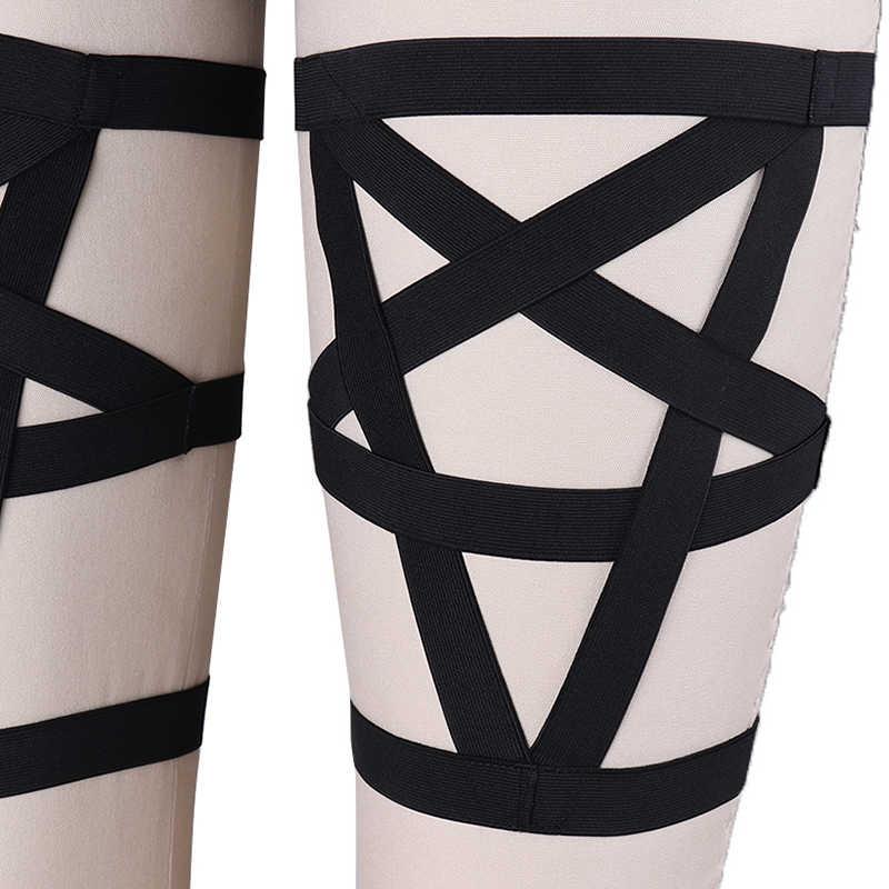 Cosce nuovo reggicalze per le donne legato manic band che portano i calzini Harajuku elastico giarrettiere gamba anello locale notturno della cinghia di carnevale regalo moglie
