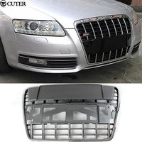 A6 C6 S6 ABS All Chrome Racing Grills Auto Car Front Grille For Audi A6 C6