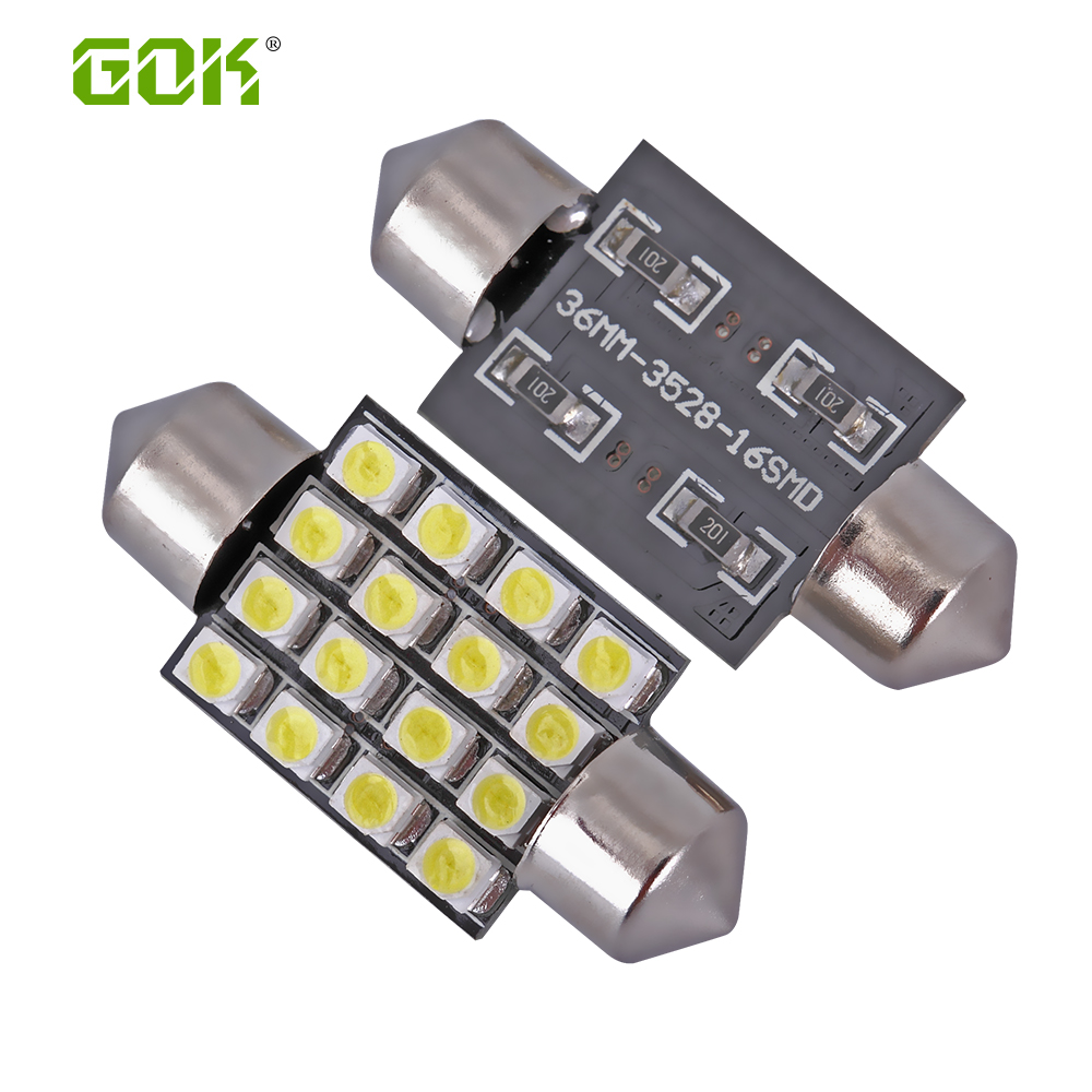 New car <font><b>led</b></font> Interior Light festoon 16smd <font><b>led</b></font> 36mm 39mm <font><b>42mm</b></font> 31mm 3528/1210 16Smd <font><b>Led</b></font> Car Interior Light <font><b>Bulb</b></font> Auto Roof light image