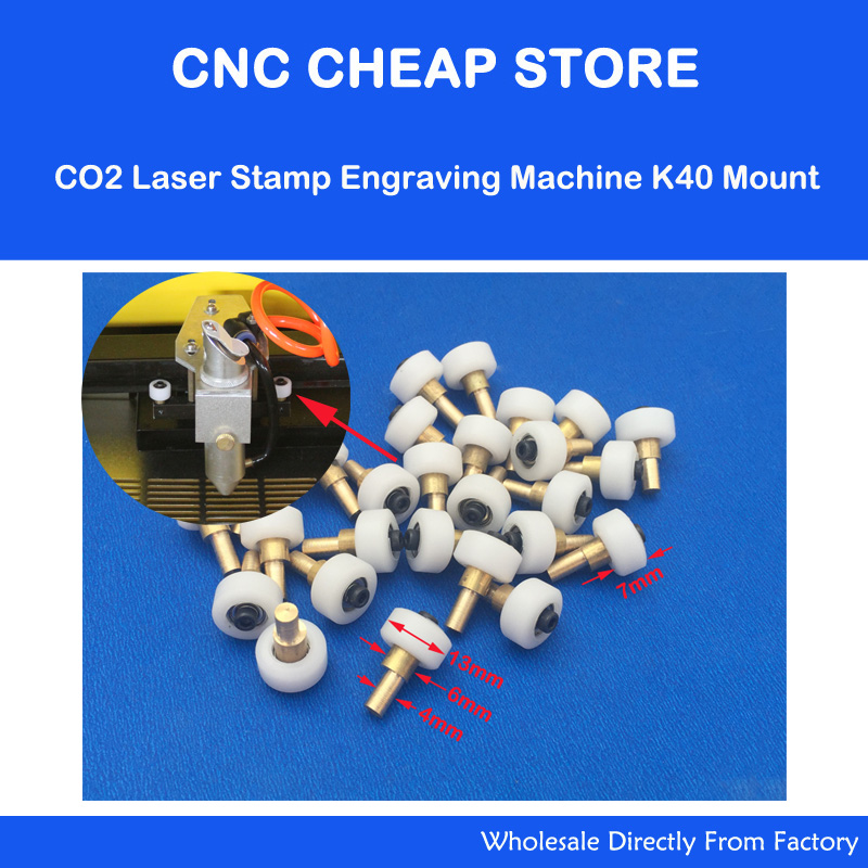 4pcs/Lot DIY CO2 Mini Laser Stamp Engraving Cutting Machine K40 Part Head Mount Carriage Wheel Replacment Rollers Set