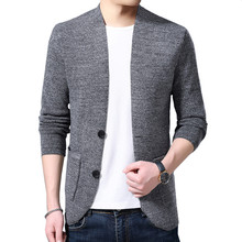 Sweater Cardigan Mens Wool Single Breasted Simple Solid Color Urban Style Loose Jacket Asian Size M-4XL 2019 New