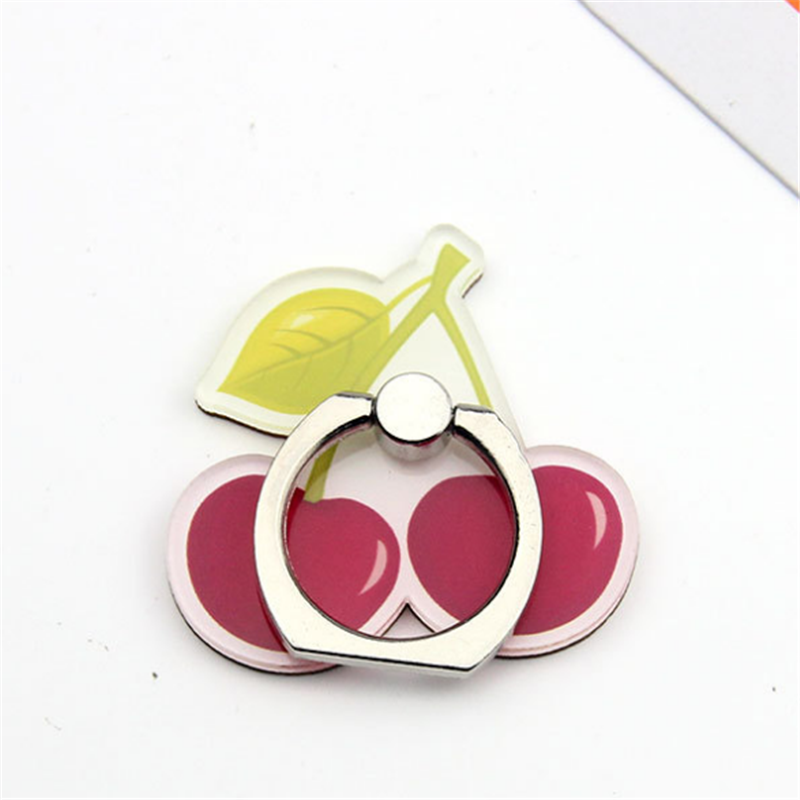 360 Degree Cherry Finger Ring Smartphone Fruits Stand Holder Mobile Phone Holder Stand For IPhone Xiaomi Huawei All Phone