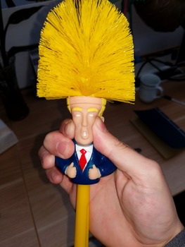 Donald Trump Toilet Brush Make Toilet Great Again Funny Gag Gift The Perfect Toilet Bowl Brush Presidential Present For Friend