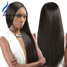 Silky Straight Full Lace Wig With Baby Hair Straight Lace Front Wig Human Hair For Black Women U Part Wig Brazilian Virgin Hair