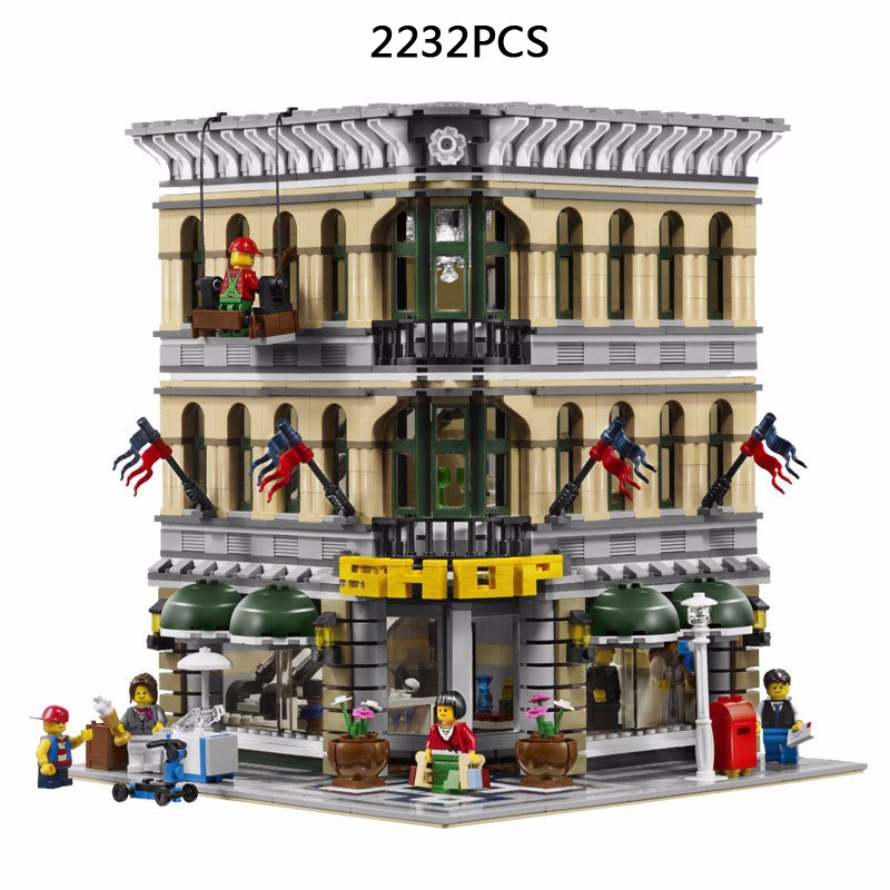 2017 LEPIN 15005 NEW 2182pcs City Grand Emporium Model Building Blocks Kits Brick Toy Compatible 10211 cindiry 6 5cm tie clips for men stainless steel gold silver collar pin men brooch tie collar pin for skinny tie shirt p2