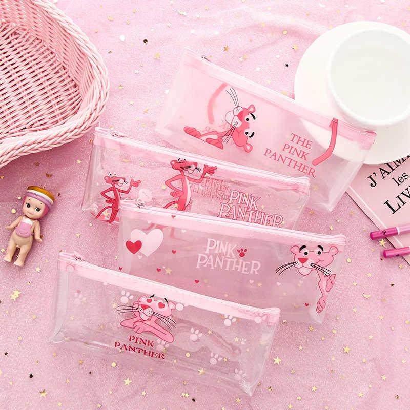1 قطعة/بيع Kawaii مقلمة قماش هالوين لطيف الوردي النمر نمط اللوازم المدرسية طالب القرطاسية هدية الكريسماس