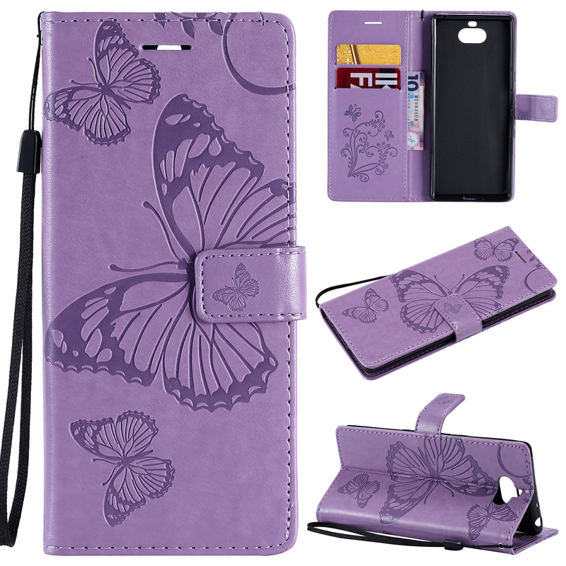Luruxy 3D Butterfly <font><b>Leather</b></font> Flip Cover <font><b>Case</b></font> SFor <font><b>Sony</b></font> 10 Cover <font><b>Case</b></font> For <font><b>SONY</b></font> <font><b>Xperia</b></font> L3 L2 L1 E5 E6 C6 <font><b>1</b></font> Wallet Book Bag Coque< image