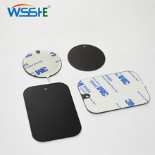 Hot sale Metal Plate Universal Replacement Kit With Adhesive for Magnetic Car Mount Phone Holder Magnet Mobile Stand