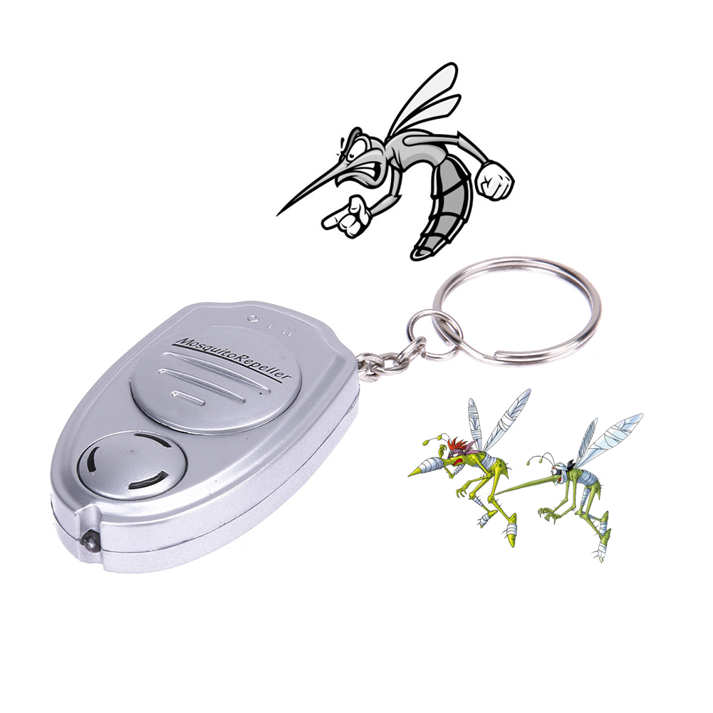 Super Mini Electric Key Chain Pest Mosquito Killer Ultrasonic Anti Mosquito Repeller for Camping Fishing Outdoor Portable Device aokeman pest repeller portable outdoor body pack portable ultrasonic electronic pest insect mosquito repeller hot search
