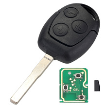 3 Buttons Remote Car Key Shell Case 433MHz Chip Fob HU101 for FORD Fusion Focus Fiesta C-Max Car Key Case D25