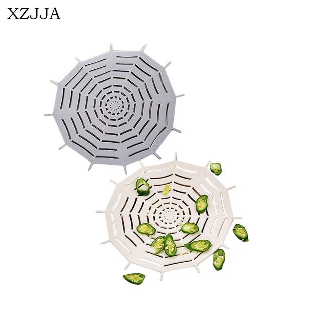 XZJJA Creative High Quality Spider Web Shape Kitchen Sink Filter Bathroom  Sewer Strainers Anti Blocking
