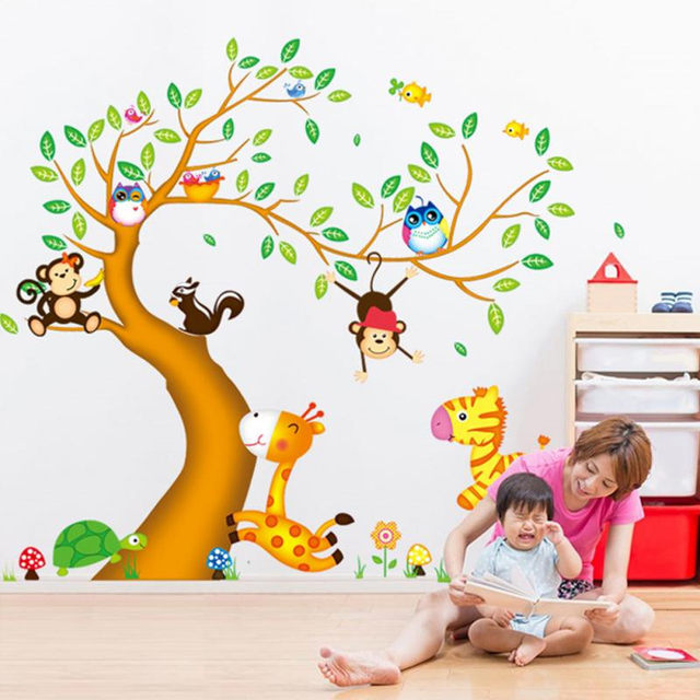 online shop nursery room decor wall stickers for kids rooms oversize