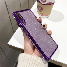 Case For Samsung A7 2018 Case Diamond Bumper Galaxy Note 9 S10 S10e S9 S8 A5 A6 A8 Cover Glitter iPhone XS MAX XR Plus X 6 6S 8(China)