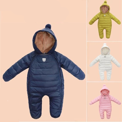 Baby Coverall Clothing Thick Warm Winter Down Clothes Newborn Baby Girl Outside Clothes Baby Romper PaddBaby Boy Ski Jumpsuit набор для вышивания белоснежка котёнок
