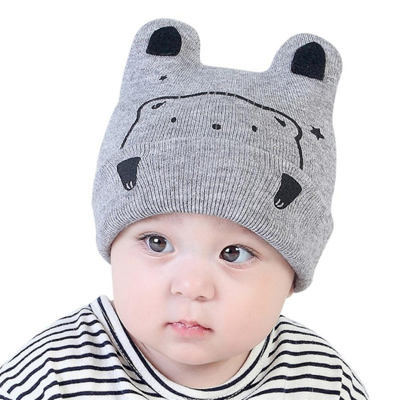 A hat for a boy girl baby hat Beanie For Boys Girls Cotton Children Print Hats baby cap 1-3 Years-Old Kids photography props