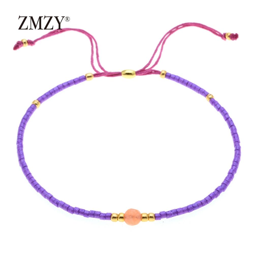 ZMZY Miyuki Delica, бисер, женские браслеты, ювелирные изделия дружбы, модные, сделай сам, Bijoux Femme, простые браслеты, Прямая поставка - Окраска металла: QSSL003-11