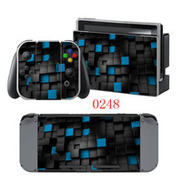3D Checked Vinyl Decal Cover Skin Sticker For Nintendo Switch Console Skins