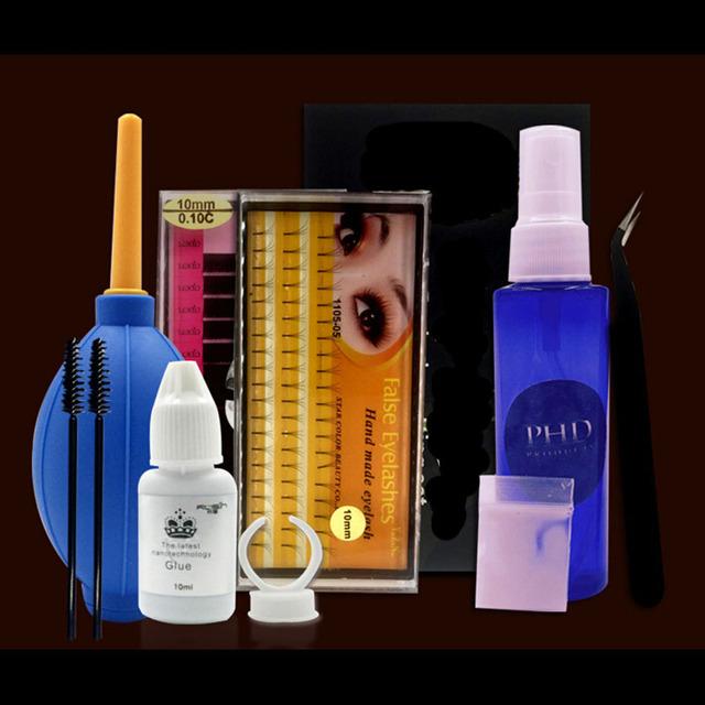 Kit de extensão da pestana lashes curler perming cola enxerto cílios perm portátil professional beauty salon maquiagem