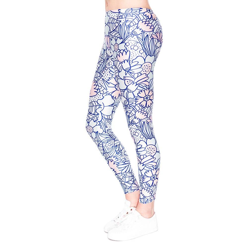 High Quality Women Fitness Leggings Work Out Pants Character Printed Leggins Women Elastic Waist Casual Women Legging Trouser