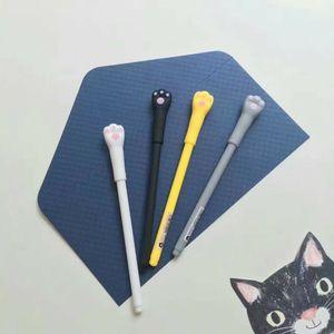Image 3 - 48 pcs Gel Pens Cartoon cat black colored kawaii gift gel ink pens pens for writing Cute stationery office school supplies