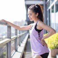 CHU YOGA Womens Running Vest Tank Tops Women Vest simple Stretchable Ladies Sport Bodybuilding Fitness Breathable Shirt V1401