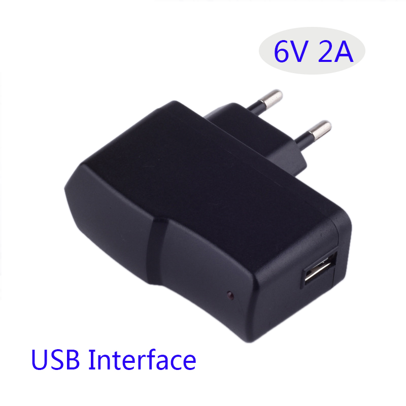6V 2A Power Adapter AC 6V2A Warm Shoes Charger Switching Power Supply Universal USB Interface EU US Plug digoo dg ea10 charger adapter plug removable version 3 12v universal 10 selectable multi voltage switching micro usb plug power
