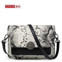 Новый 2017 Моды Натуральная кожа Crossbody сумки Python pattern Женщины Сумка Почтальона Сумочки Серпантин дамы мини-сумки бренда # QM-1113(China (Mainland))