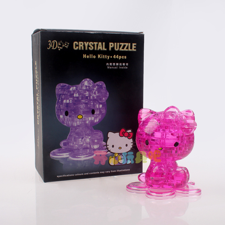 3d stereoscopic crystal puzzle KITTY cartoon children's ...
