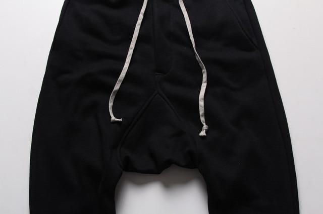 Mens joggers Casual trousers harem pants Men black Fashion swag dance drop crotch Hip Hop sweat pants sweatpants 8