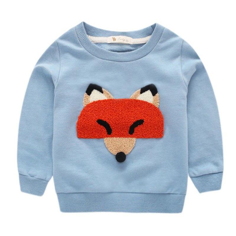 Baby Boy T shirt Long Sleeve Cartoon Fox Boys Baby T