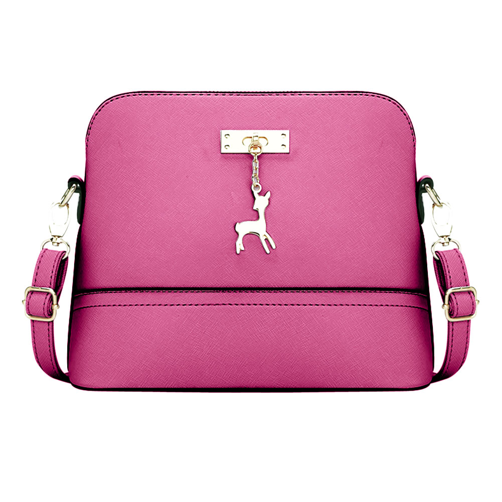 Small Shell Women Leather Handbag PU Vintage Women Messenger Bags Shoulder Crossbody Bag Hardware Deer Ornaments Shell Package