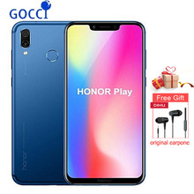 Global ROM Original 6.3 inch HUAWEI honor Play Kirin 970 Octa Core 4GB ROM 64GB RAM Mobile Phone 2340x1080 Quick Charger 9V/2A