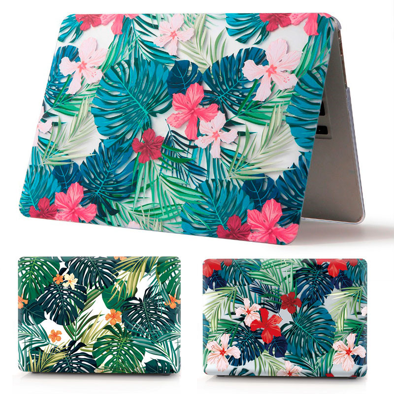 2018 Hot Print Leaves Laptop Case For Apple MacBook Air Pro Retina 11 12 13 15 for mac book New Pro 13 15 inch with Touch Bar image