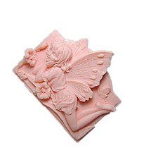 Butterfly Cutting Mold Pretty Angel Carving Silicone Mould Hand Making Soap
