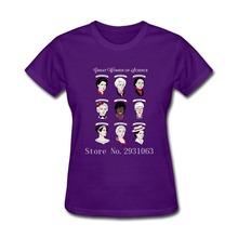Great Women of Science 100% Cotton Custom Couple T Shirts Women's Cheap Shorts T-Shirt Women T Shirt Cool T Shirts