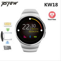 Tamamen Yuvarlak RsFow KW18 Akıllı Izle Android/IOS Bluetooth Reloj Inteligente SIM Kart Nabız İzle Saat Anti kayıp