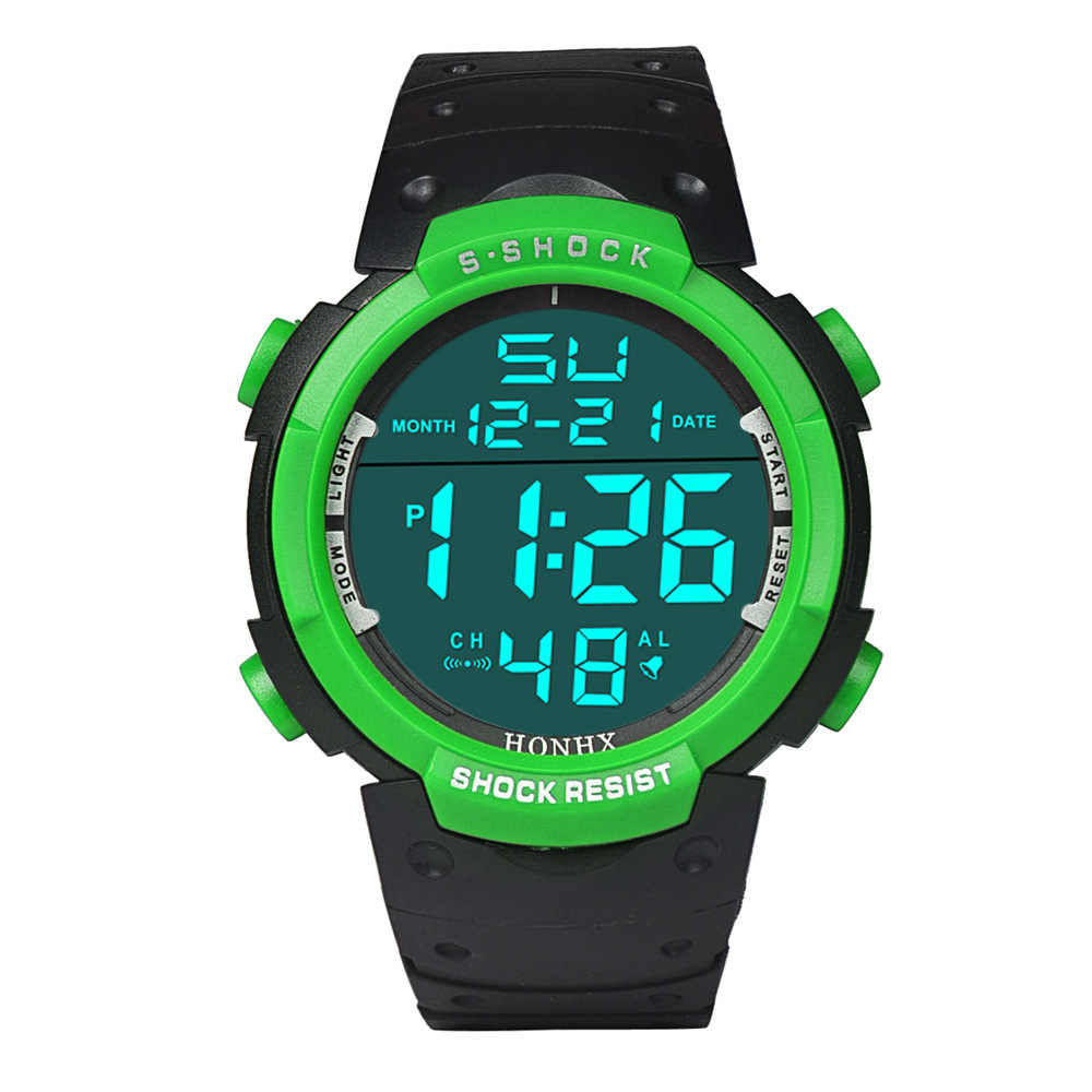 Homens da moda Borracha Relógios Desportivos LED Digital Relógios de Luxo Calendário Alarme Cronômetro Data Relógio Dos Homens Do Esporte relógio de Pulso Eletrônico