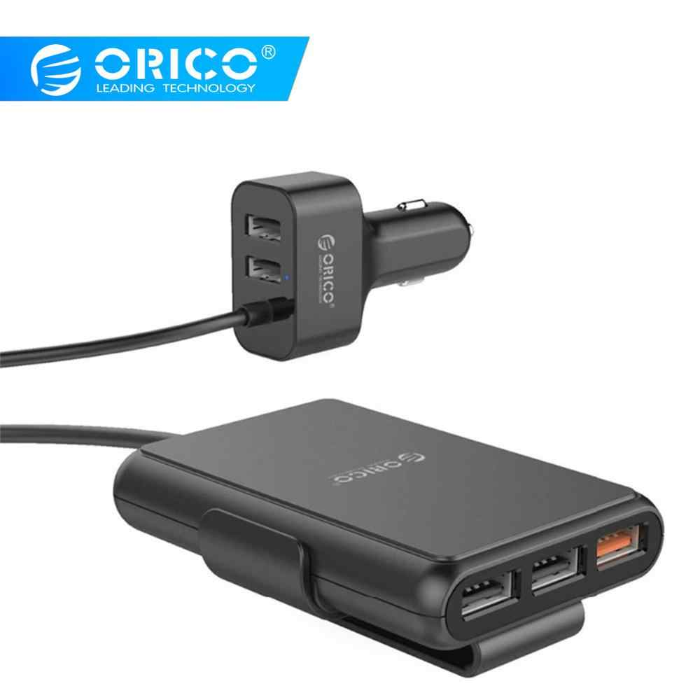 Orico 5 Port QC3.0 Usb Mobil Charger Universal USB Charger Cepat 52 W untuk iPhone 7 Samsung Xiaomi Telepon Mobil charger