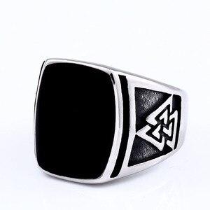 Стальное солдатское кольцо викингов для мужчин Скандинавская индивидуальная из нержавеющей стали Миф руны вечерние ювелирные изделия