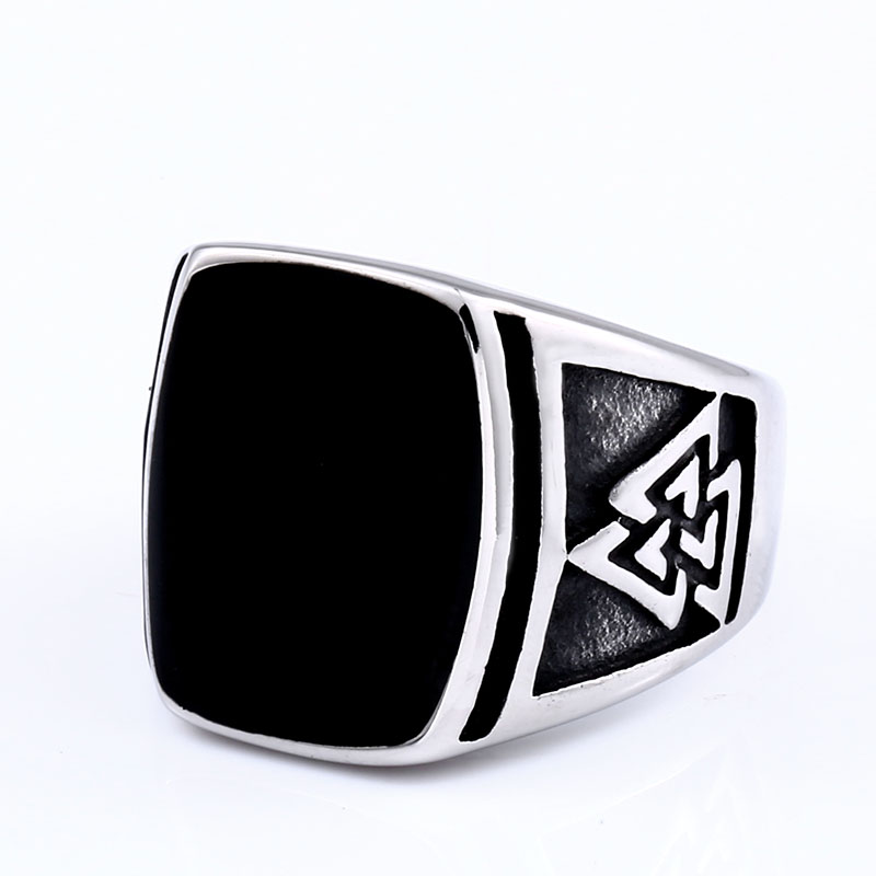 Steel soldier viking ring men nordic stainless steel personality myth rune party jewelry(China)