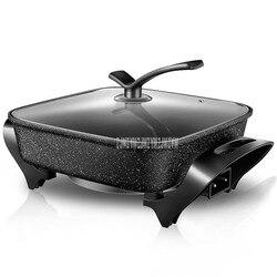 6L 1450W medyczny kamień powłoka wielofunkcyjny elektryczny Hotpot kuchenka patelnia nieprzywierająca smażenia gorący garnek multicooker