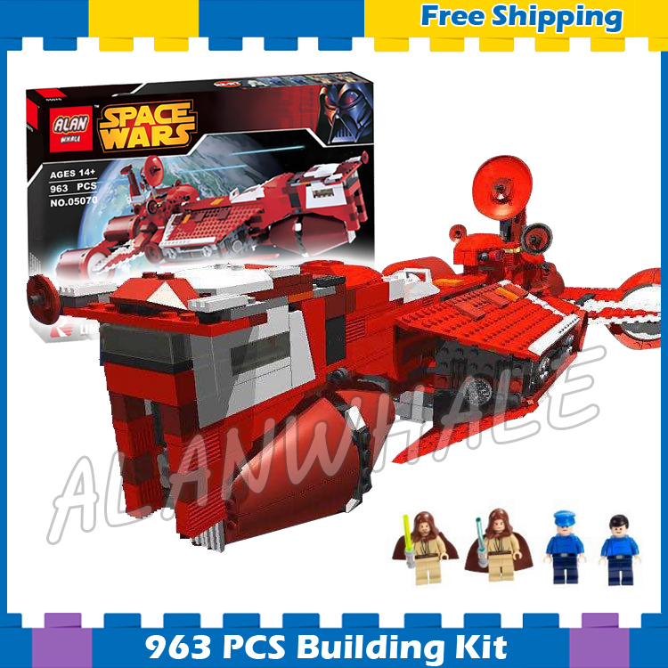 963pcs New Space Wars Republic Cruiser 05070 Model Building Blocks Bricks Gifts Children Boys Toys Sets Compatible With Lego kazi 608pcs pirates armada flagship building blocks brinquedos caribbean warship sets the black pearl compatible with bricks