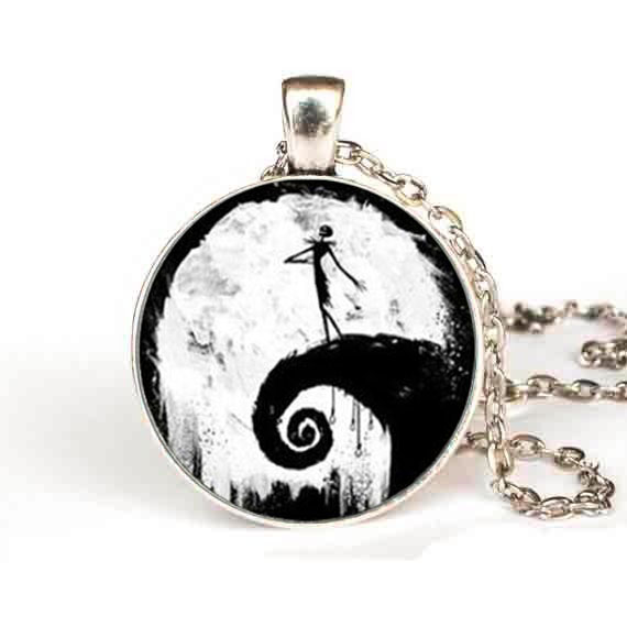 Compare Prices on Nightmare before Christmas Lovers Necklace ...