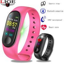цена New Sport Bracelet Fitness Pedometer Activity tracker Bluetooth Bracelet Heart Rate Blood Pressure Monitor Smart Watch Men Women онлайн в 2017 году
